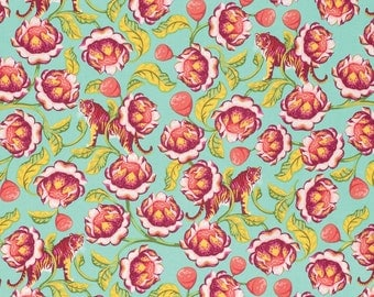 Eden - Lotus in Tomato by Tula Pink for Freespirit Fabrics