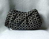 Black and White Buttercup Bag - Polka Dot Pleated Purse