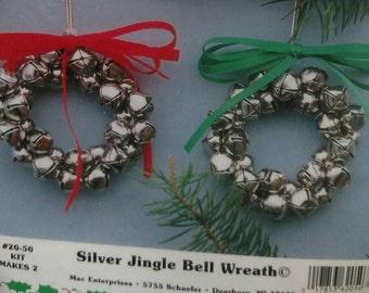 20-50 Silver Jingle Bell Wreath