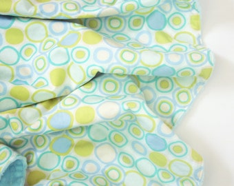 Minky Baby Blanket - Mint Circles - Personalization Available