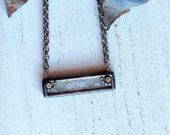 Vintage Lace Bar Necklace
