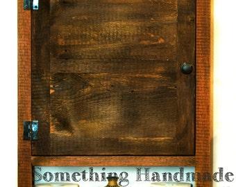 barn wood bathroom  cabinet  made from 1892  barn wood