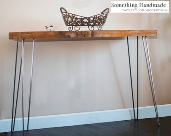 Modern rustic Barn wood Sofa-console table reclaimed barnwood free shipping
