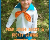 Child's Fred Jones Collar and Ascot Sewing Pattern - DIY Costume, Fred Jones Ascot Pattern, Scooby Doo Costumes, Sewing Tutorial