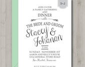 Elegant Rustic Bridal Invitation - Bridal Shower - Rehearsal Dinner - Luncheon - Printable