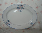 Vintage Platter Bluebird Swallow Cherry Blossoms China Pottery Thompson