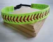 Softball Headband Adjustable NO SLIP Hair Bands PERSONALIZED you Choose Color