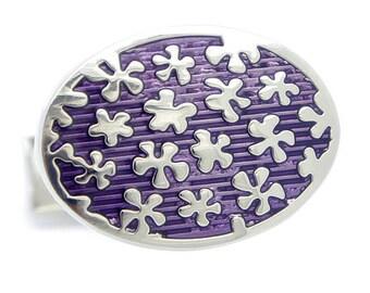 Purple flower Cufflinks