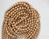 Champagne color rice  freshwater  pearls (5-6mm), FULL STRAND (16 inches)