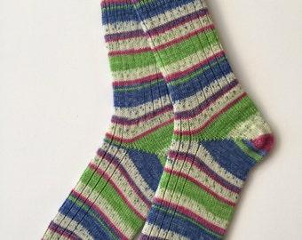 Ladies' Wool Socks, Knitted, Opal Smile