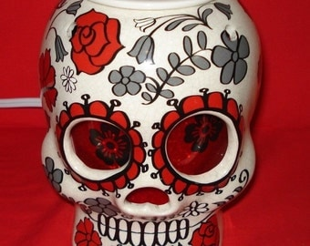 Sugar Skull Wax Warmer Sugar Skull  Day of the Dead Hallowen Party Decor