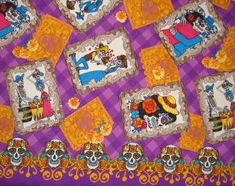 Day of the Dead Fabric Banner Sugar Skull Picture Frame The Promise Catrina Eternal Love