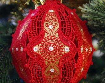 Christmas tree Ornament Embroidered, Custom made, collectible,    3D   5.5X6
