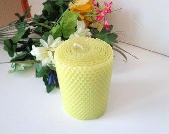 Lime Green Beeswax Pillar, Green Beeswax Pillar Candle, Pillar Candle, Beeswax Candle, Unscented Beeswax Candle, Beeswax Candles, Pillars