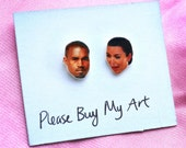 Kim Kardashian Kanye West Kimye Stud Earrings