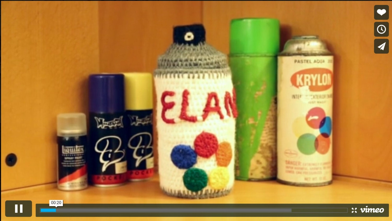Custom Spray Paint Can Yarn Coiled Vessel Graffiti Art