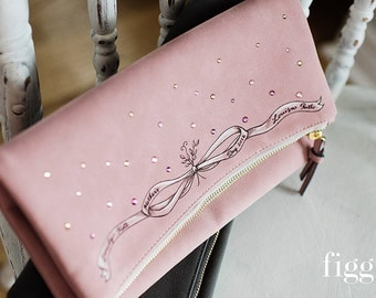 Mother's Day Customized Hand-painted Clutch