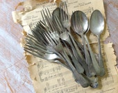 Rustic Vintage Collection of Silverplated Flatware - 23 pieces