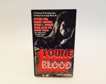 Vintage Horror Book Young Blood 1994 Paperback Anthology