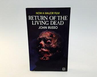 Vintage Horror Book Return of the Living Dead by John Russo Film Novelization 1985 UK Edition Paperback
