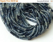 45% ON SALE Blue Sapphire - Shaded Blue Sapphire Plain Beads, Sapphire Necklace, Sapphire Jewelry, Original Sapphire Necklace, 2.5-3mm, 6 In