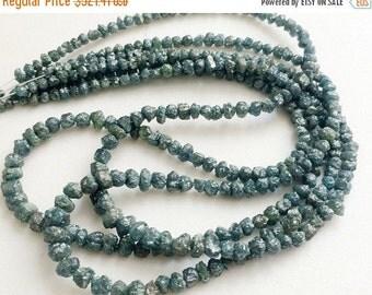 "55% ON SALE Blue Diamonds, Blue Rough Diamonds, Blue Raw Uncut Diamond Beads, Conflict Free, 3-6mm, 7.5"", 24 CTW - Ddra39"