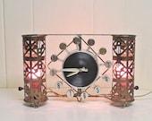 Mid Century Clock Lamp Spartus Brass TV Lamp