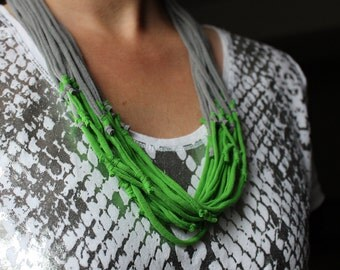 Tshirt Necklace - Recycled Jersey