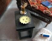 "Citronella 3-wick ""burned"" candle tin - dollhouse miniature"