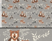 Oh, Hello Fog print, Hellow Bear Collection, Cotton Fabric, Quilting Weight textile, Art Gallery Designer Cotton