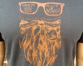 When you see a lot of beards, you know its gonna be good - Unisex screen printed tee shirt