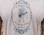 Mark Twain quote - Banjo screen print tee shirt