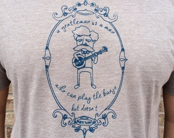 Mark Twain quote - Banjo screen print tee shirt