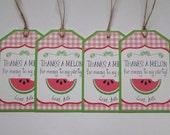 Watermelon Hang Tag - Watermelon Party - Picnic Party - Watermelon Birthday - Treat Bag Tag - Thank You Tag - Favor Bag Tag - Summer Party