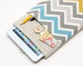 White Linen Kobo Aura HD Case. Sleeve for Kobo Mini. Cover for Kobo Touch, Kobo Glo, Kobo Glo HD, Kobo Aura HD.