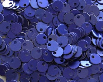 200 Purple Tiny Chainmail Aluminum Disks Tags Circles