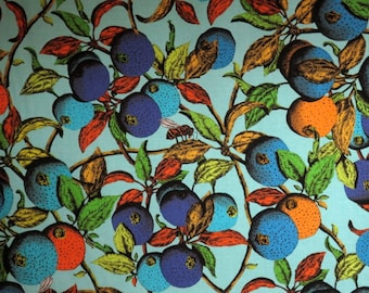 Vibrant Garden of Eden Print Pure Cotton Fabric from Studio KM--One Yard