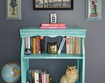 Vintage Shelf Bookshelf Entertainment Center in Mermaid !Free Shipping!