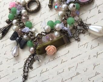 Shabby Chic French Charm Bracelet - SOPHIE -