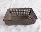 Vintage Tiny Wire Basket . Business Card Holder