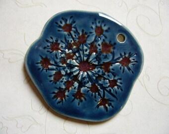 Storm Queen Anne's Lace Ceramic Pendant