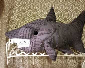 chenille pillow shark