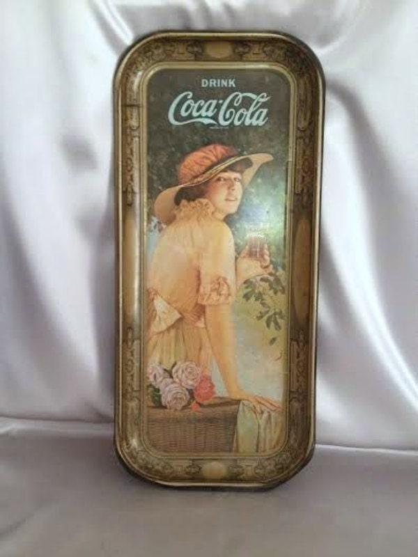 Coca Cola Metal Tray Vintage Collectible 1972 Coke