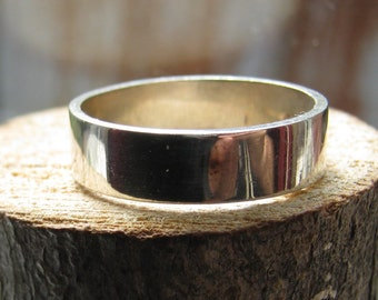 Vintage Sterling Silver 5mm Wide Men's or Women's Wedding Band Silver Band Ring Size 10