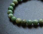 Green Jade Stretch Stacking Bracelet African Green Jade