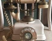Vintage French Phone, Rotary Phone, Rare Cameo Telephone