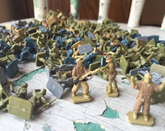 238 MPC Toy Soldiers, Mini Toy Soldiers, Plastic Army Men
