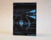 Passport Cover Sleeve Case Holder Space Star Wars Blueprint Schematics Fabric Death Star