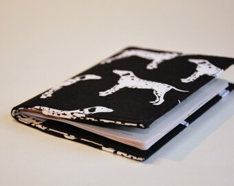 Passport Cover Sleeve Case Holder black and white dalmations  theme Cotton Fabric