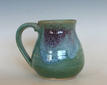 Coffee Mug Pottery, 16 oz, unique coffee mug, handmade ceramic cup, handthrown mug, stoneware mug, pottery mug, ceramics and pottery